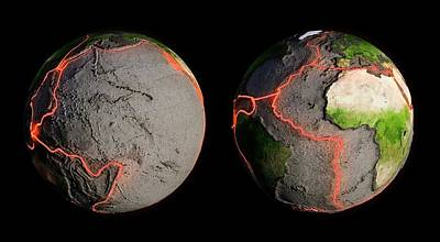 Tectonic Plates And Fault Lines Poster by Andrzej Wojcicki