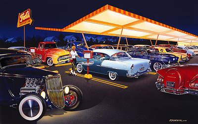 Teds Drive-in Poster by Bruce Kaiser
