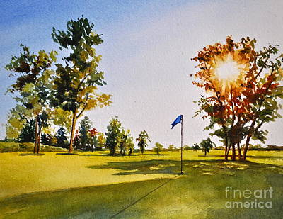 Tee Time Poster by Andrea Timm
