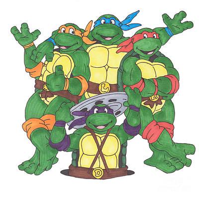 Teenage Mutant Ninja Turtles  Poster by Yael Rosen