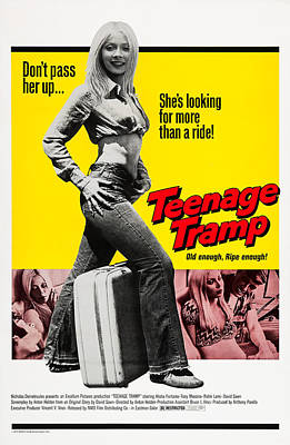 Teenage Tramp, Alisha Fontaine, 1973 Poster by Everett