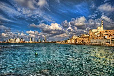 Tel Aviv Jaffa Shoreline Poster by Ron Shoshani
