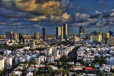 Tel Aviv Skyline Fascination Poster by Ron Shoshani
