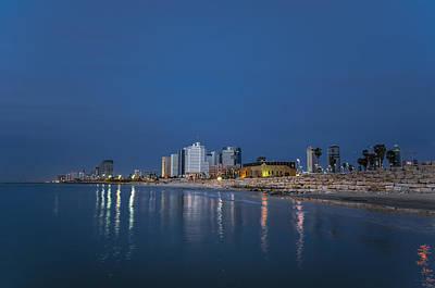 Tel Aviv The Blue Hour Poster by Ron Shoshani
