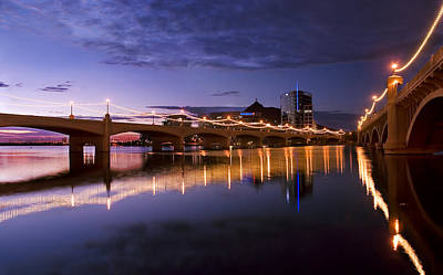 Dusk Poster featuring the photograph Tempe Town Lake Blues by Dave Dilli