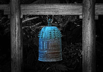 Temple Bell - Buddhist Photography By William Patrick And Sharon Cummings  Poster by Sharon Cummings