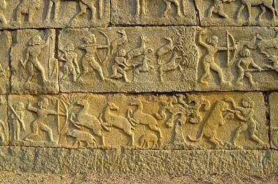Temple Carvings Poster by K Jayaram