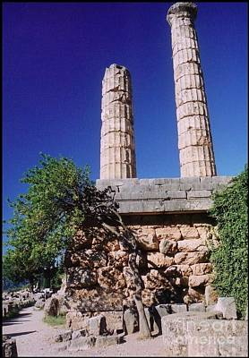Temple Columns At Delphi Poster by John malone