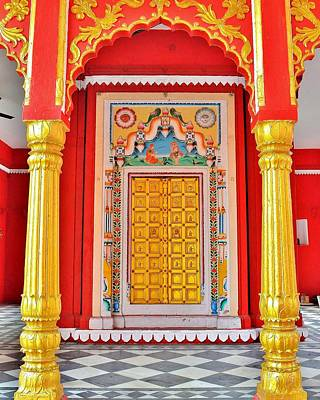 The Golden Door - Temple Entrance - Varanasi India Poster by Kim Bemis