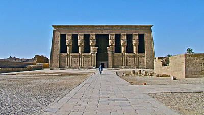 Temple Of Hathor Near Dendera-egypt Poster by Ruth Hager