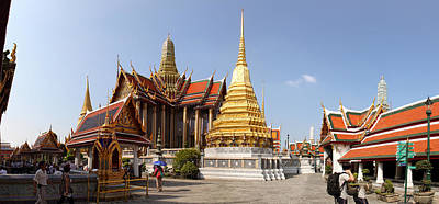 Temple Of The Emerald Buddha - Grand Palace In Bangkok Thailand - 01135 Poster by DC Photographer