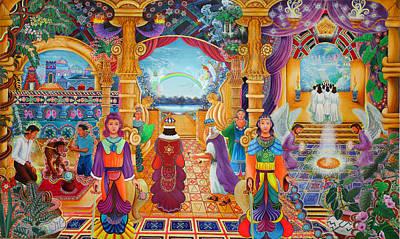 Templo Sacrosanto Poster by Pablo Amaringo