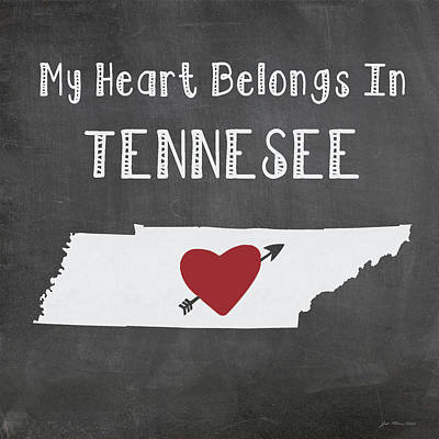 Tennesee Poster by Jo Moulton