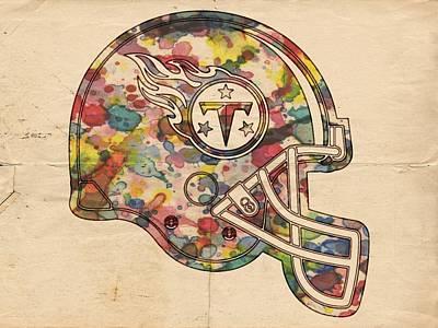 Tennessee Titans Helmet Poster Poster by Florian Rodarte