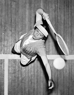 Tennis Champ Sylvia Henrotin Poster by Underwood Archives