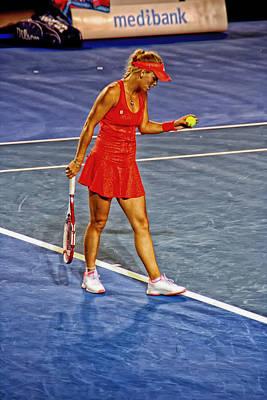 Tennis Star Caroline Wozniaki - Australian Open 2012 Poster by Mountain Dreams