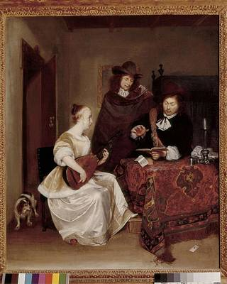 Terborch, Gerard 1617-1681. Woman Poster by Everett