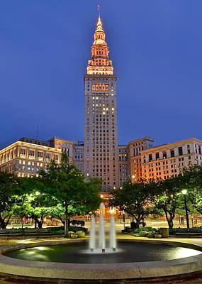 Terminal Tower Poster by Frozen in Time Fine Art Photography