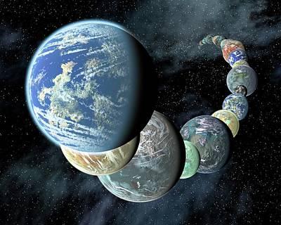 Terrestrial Planets Poster by Nasa/jpl-caltech/r. Hurt (ssc-ca