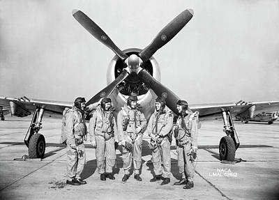 Test Pilots And P-47 Thunderbolt Poster by Nasa