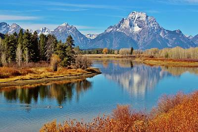 Teton Tranquility Poster by Benjamin Yeager