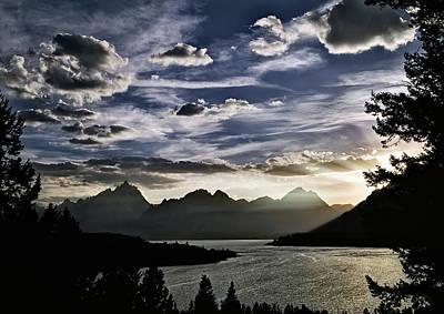 Teton Range Sunset Poster by Leland D Howard