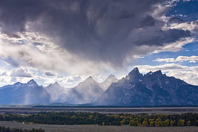Teton Storm Poster by Mark Kiver