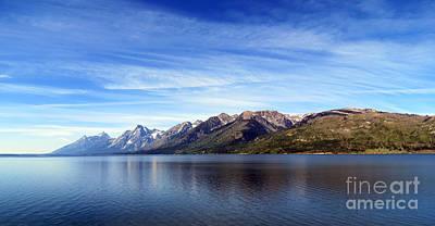 Tetons By The Lake Poster by Ausra Huntington nee Paulauskaite
