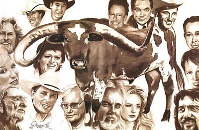 Texas Born Poster by Bill Olivas