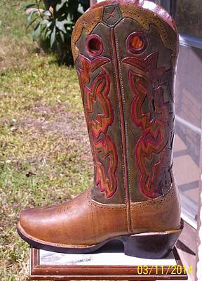 Texas Custom Boot Poster by Michael Pasko