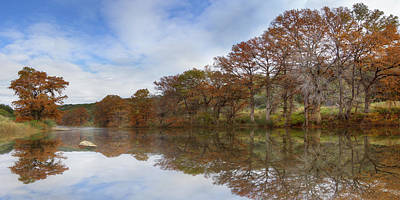 Texas Hill Country Images - Pedernales Falls State Park Panorama Poster by Rob Greebon