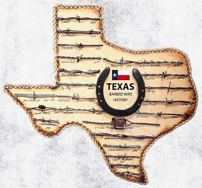 Texas Old-west Barbed Wire Poster by Daniel Hagerman