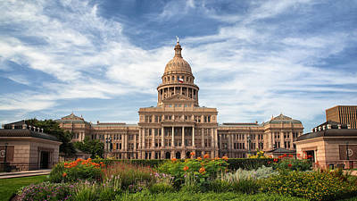 Texas State Capitol II Poster by Joan Carroll