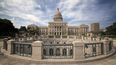 Texas State Capitol Iv Poster by Joan Carroll