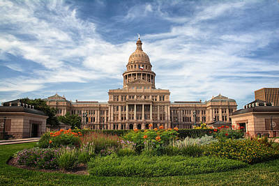 Texas State Capitol Poster by Joan Carroll