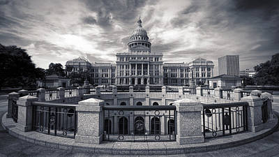 Texas State Capitol V Poster by Joan Carroll