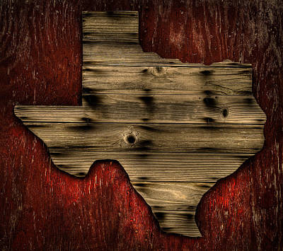 Texas Wood Poster by Darryl Dalton