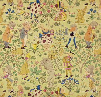 Textile Design For Alice In Wonderland Poster by Voysey