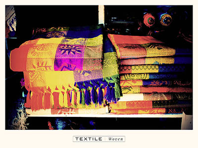 Textile Series - Woven Poster by Deepti Munshaw