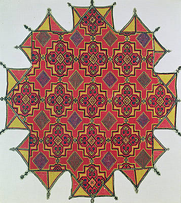 Textile With Geometric Pattern Poster by Moroccan School