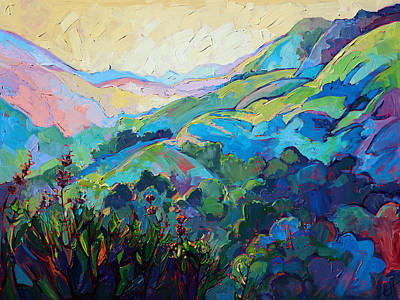 Textured Light Poster by Erin Hanson