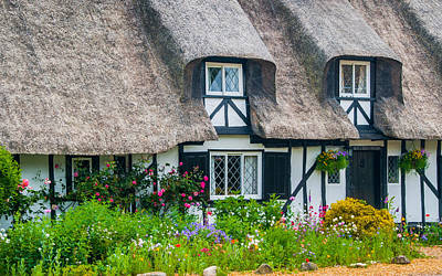 Thatched Cottage Hemingford Abbots Cambridgeshire Poster by David Ross