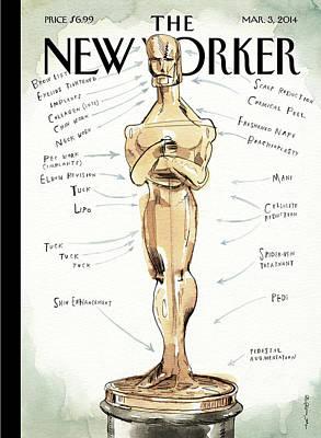 The Academy Award's Beauty Secrets Poster by Barry Blitt