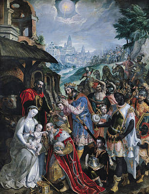 The Adoration Of The Magi  Poster by Maarten de Vos