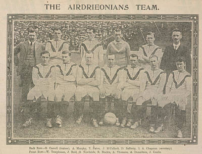 The Airdrieonians Team Poster by British Library