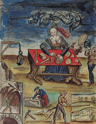 The Allegory Of Geometry, 16th Century Poster by Science Source