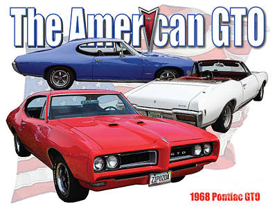 The American Gto Poster by Dan Knowler