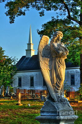 The Angel Guardian Of Walker United Methodist Church Poster by Reid Callaway