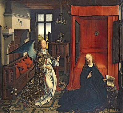 The Annunciation Oil On Panel Poster by Rogier van der Weyden