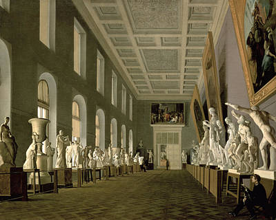 The Antiquities Gallery Of The Academy Of Fine Arts, 1836 Oil On Canvas Poster by Grigory Mikhailov